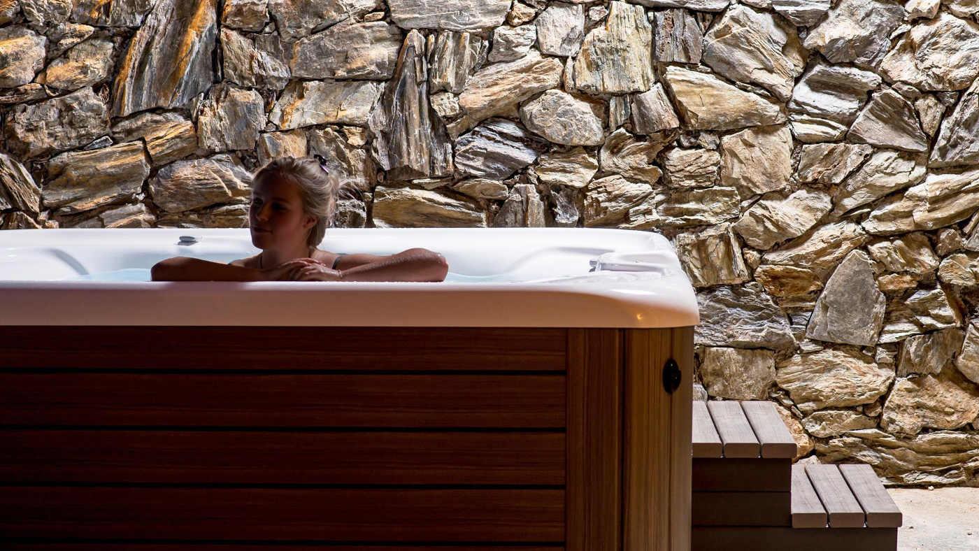 Entspannungsmodus an in diesem Ferienhaus im Skigebiet Kronplatz in Italien.