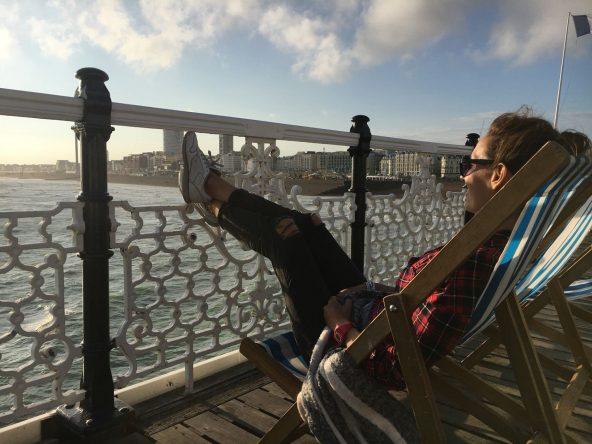 Relaxen am Pier - geht gut in Brighton!