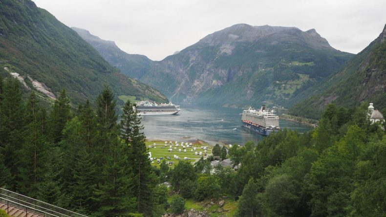 Der Geiranger Fjord von oben