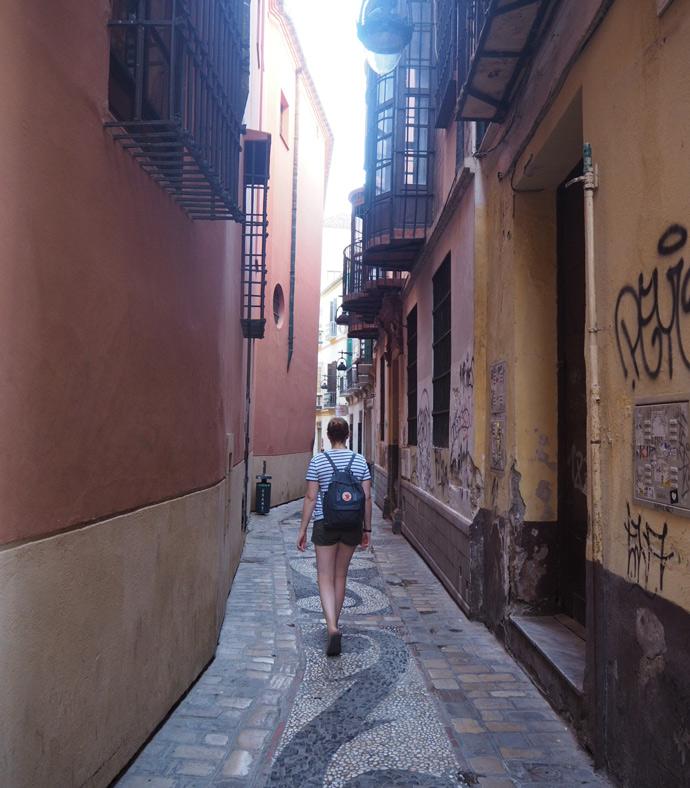 Verwinkelte und schöne Gassen in Málaga