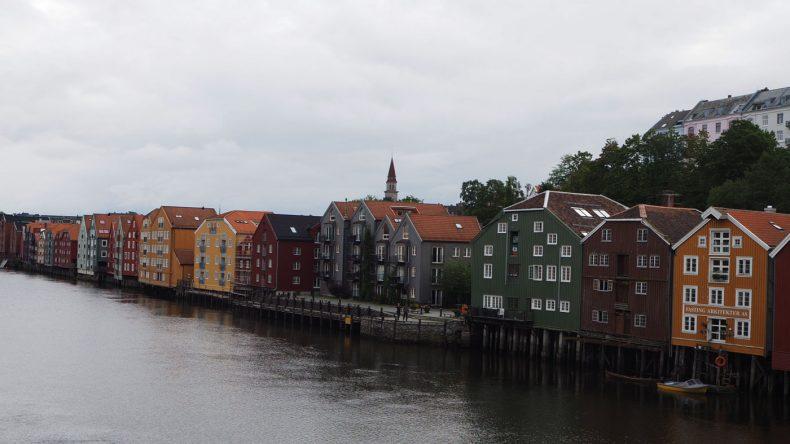 Die bunten Häuser von Trondheim