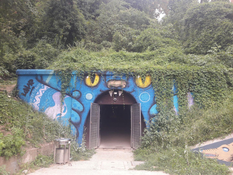eingang Grič Tunnel art park