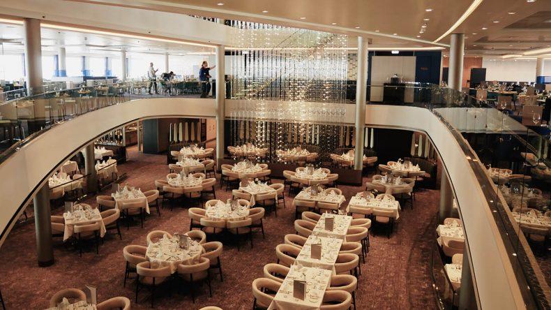 Restaurant Atlatntc auf der neuen Mein Schiff 2