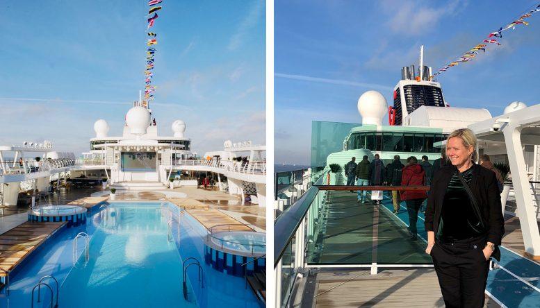 Poolbereich der neuen Mein Schiff 2