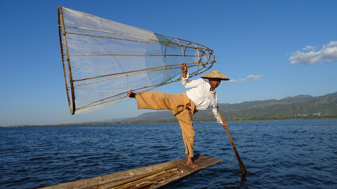 Fischer auf dem Inle Lake