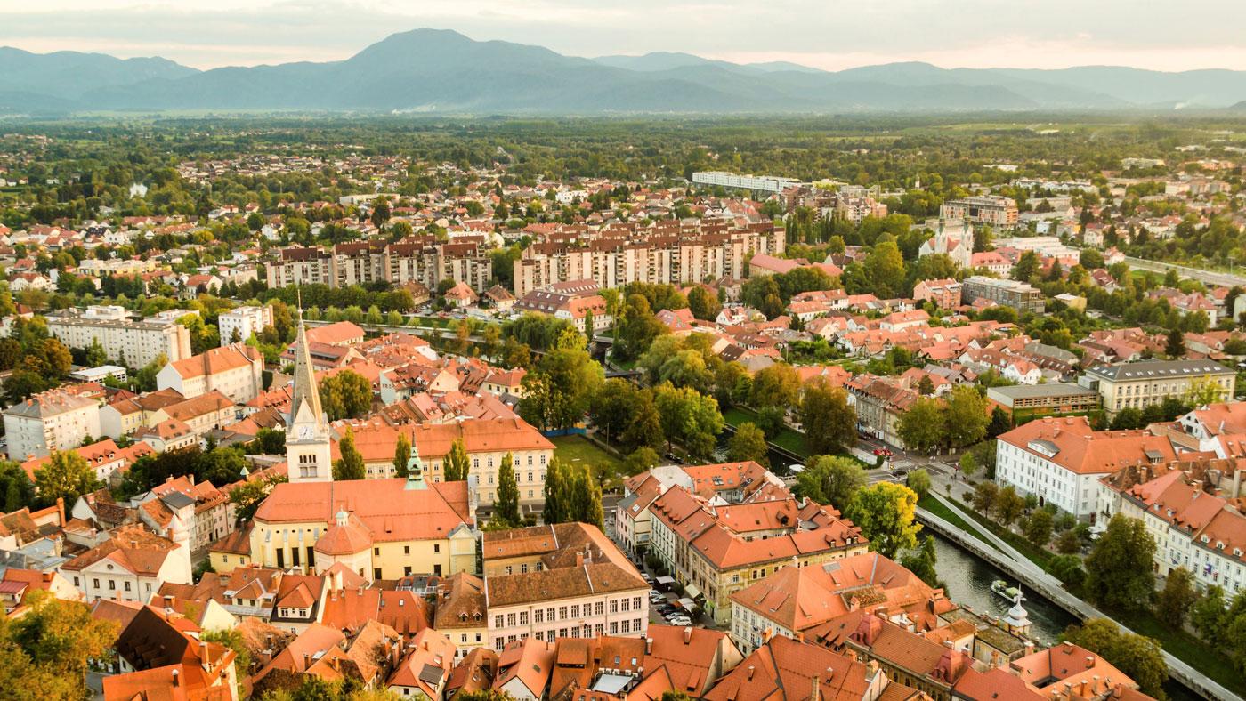Ausblick auf Ljubljana