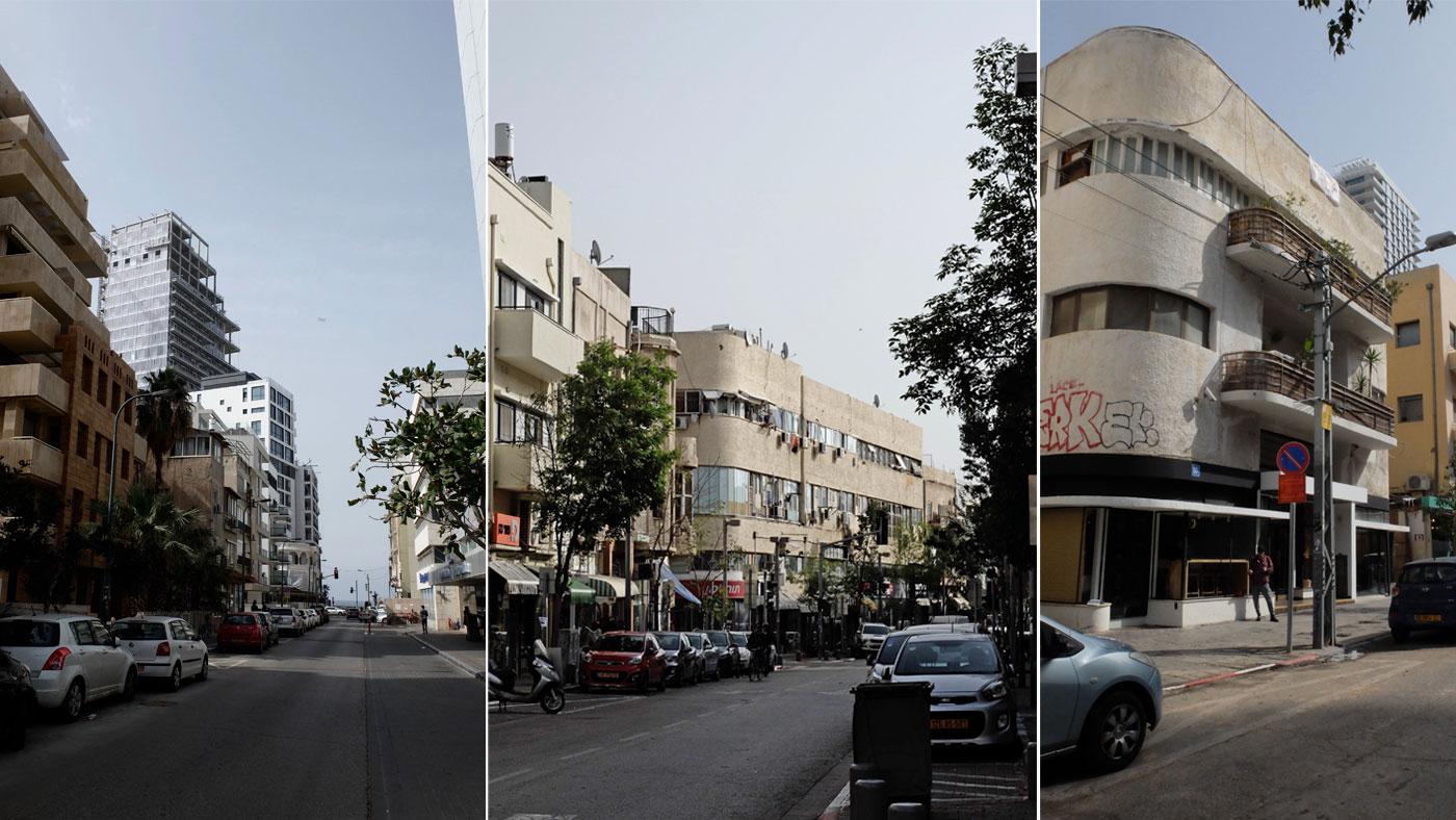 Moderne Hochhäuser treffen auf zerfallene Häuser