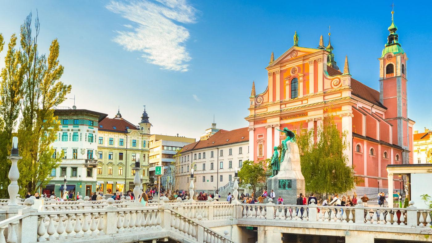 Der Prešerenplatz ist der Hauptplatz von Ljubljana