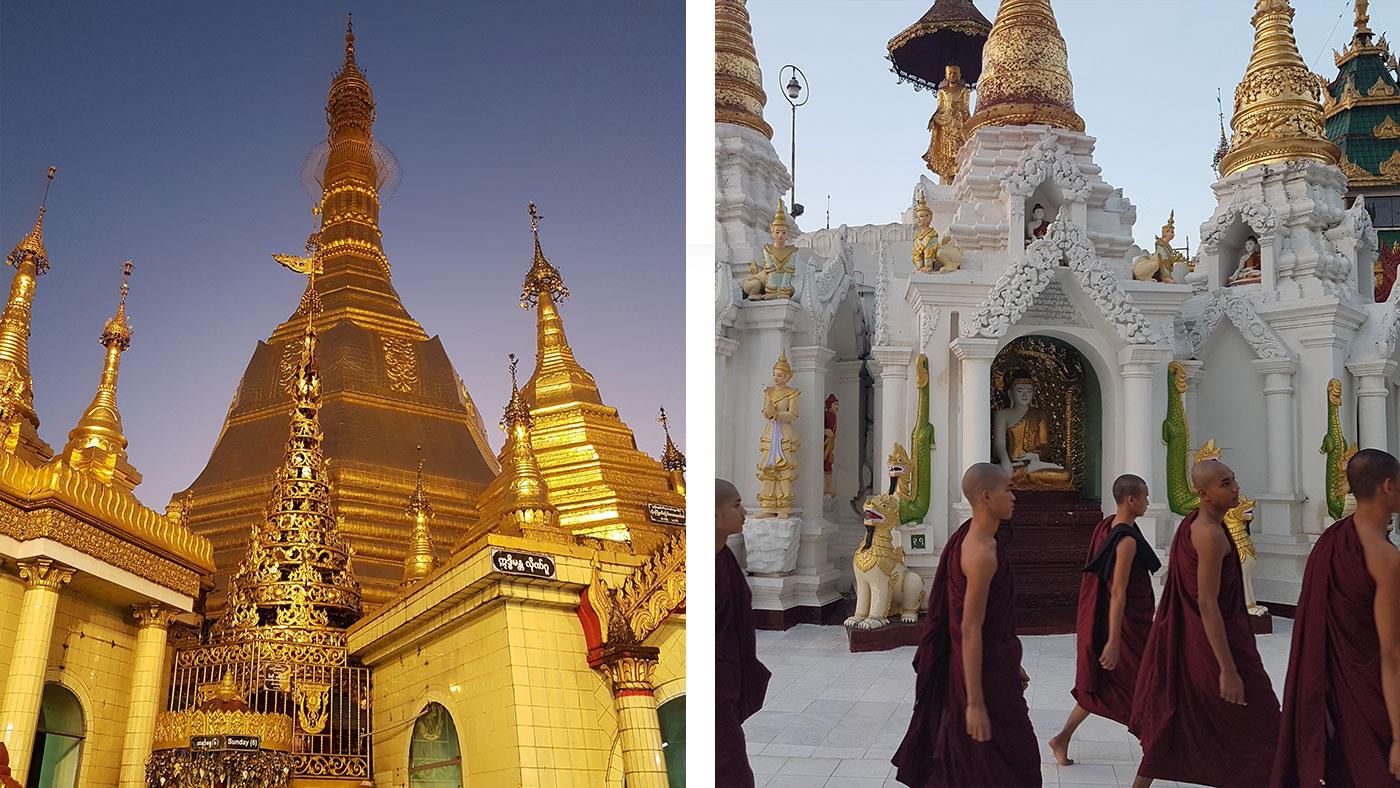 Shwedagon Pagode in Yangon