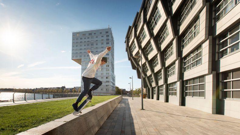 Skateboarden in Almere (Copyright: Visit Flevoland)