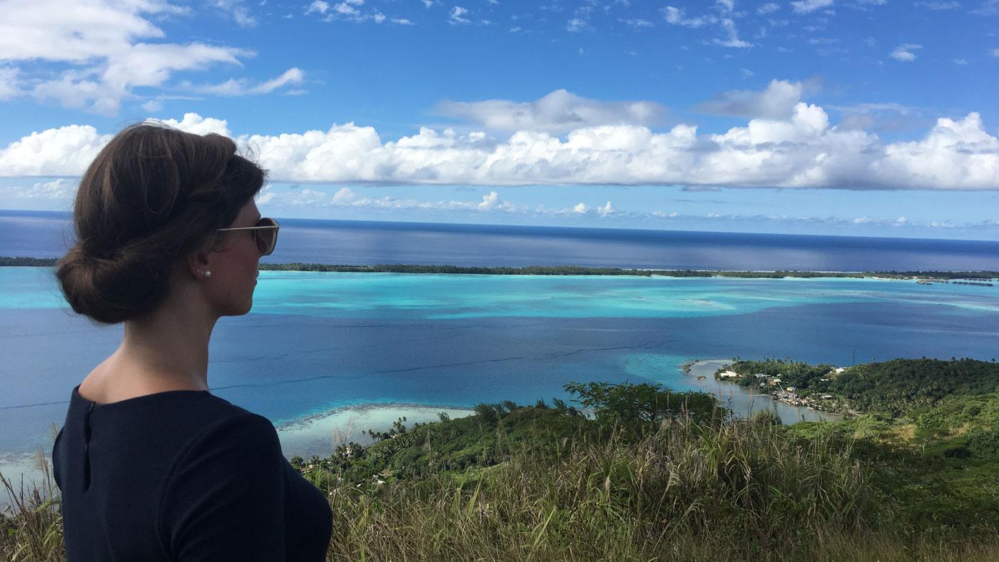 TUI Kollegin Eva auf Bora Bora