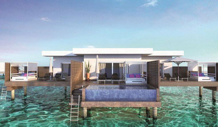 Highlight sind die Overwater-Suiten mit direktem Zugang zum Meer