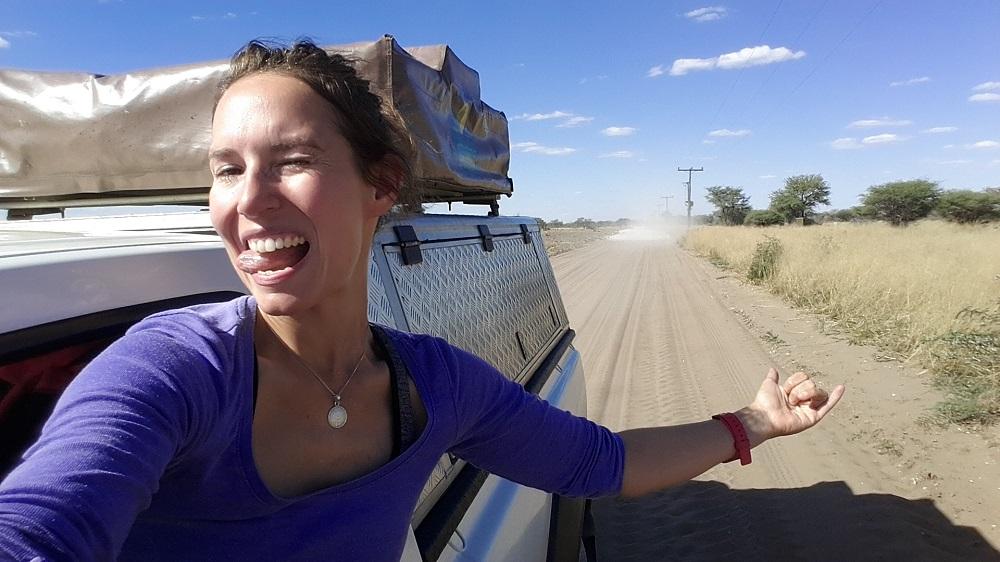Anja Knorr in Botswana
