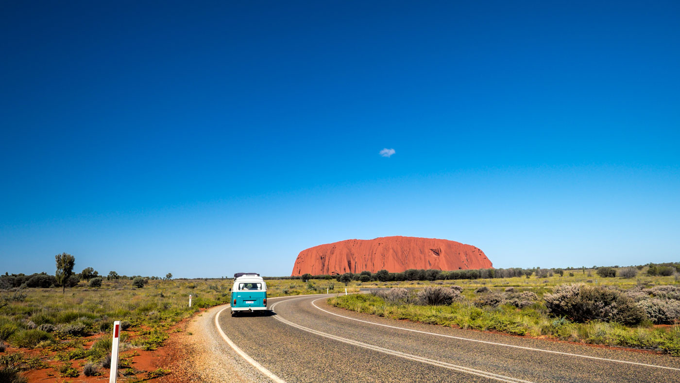 Blick auf den Uluru bzw. Ayers Rock (Copyright: Tourism NT)