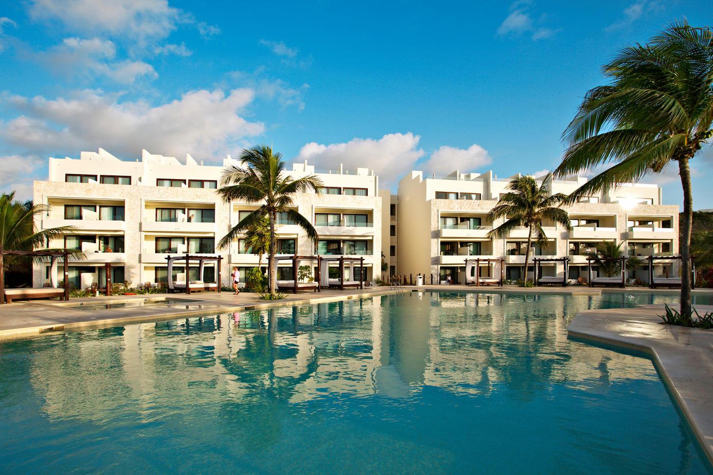 Das schöne Akumal Bay Resort in Mexiko.