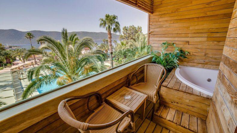 Ein Highlight: In der Juniorsuite könnt ihr im Whirlpool relaxen.