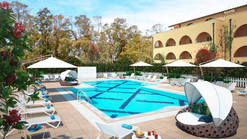 Schön gemütlich ist es auch am Relaxpool in der exklusiven Private Lodge (Modellbild)