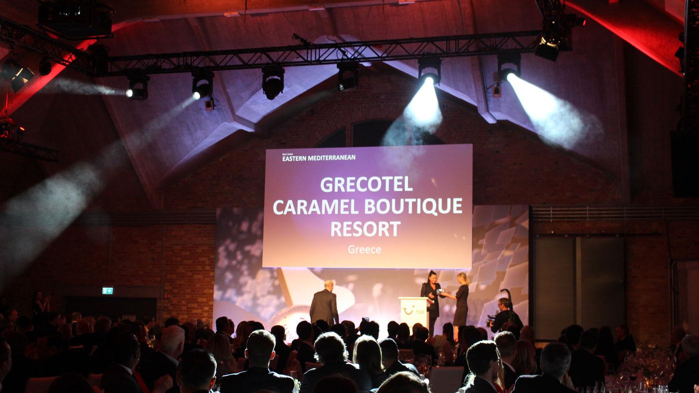 """Das GRECOTEL Caramel Boutique Resort auf Kreta gewinnt den TUI Holly Award 2019 in der Kategorie """"Bestes Hotel östliches Mittelmeer"""""""