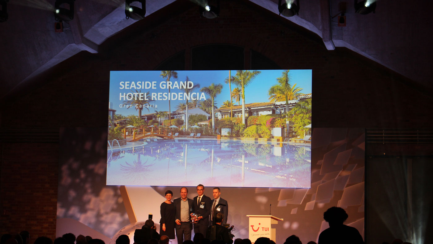 """Das Seaside Grand Hotel Residence auf Gran Canaria hat den TUI Holly 2019 in der Kategorie """"Bestes Hotel"""" gewonnen"""