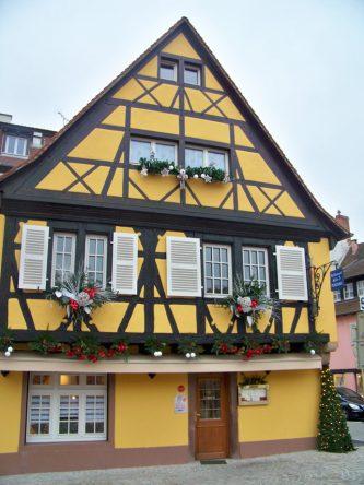 Ein Fachwerkhaus in Colman