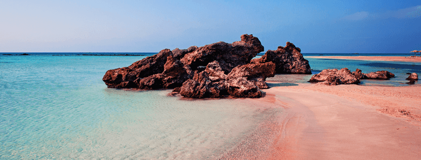 Ein Hauch von Rosa - der abgeschiedene Elafonisi Strand auf Kreta