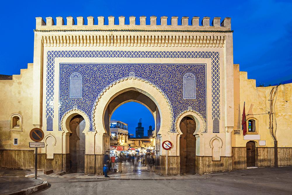 Fès und seine Keramik Fassaden