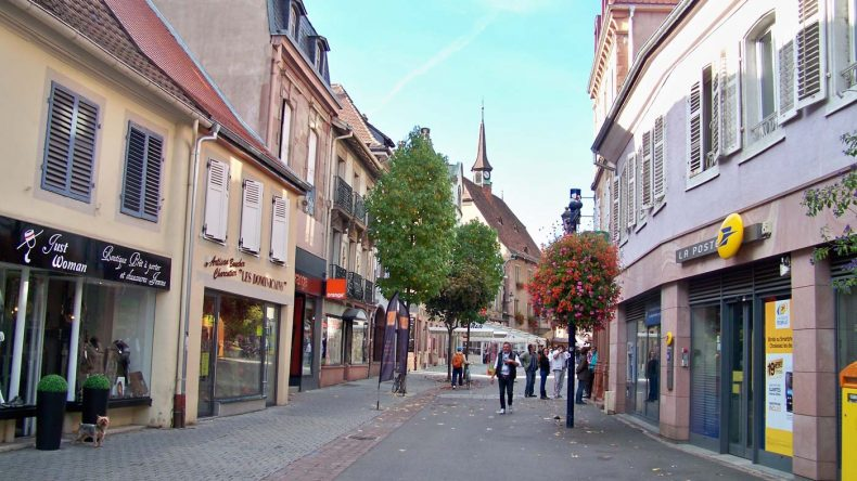 Shoppingmeile in Guebwiller