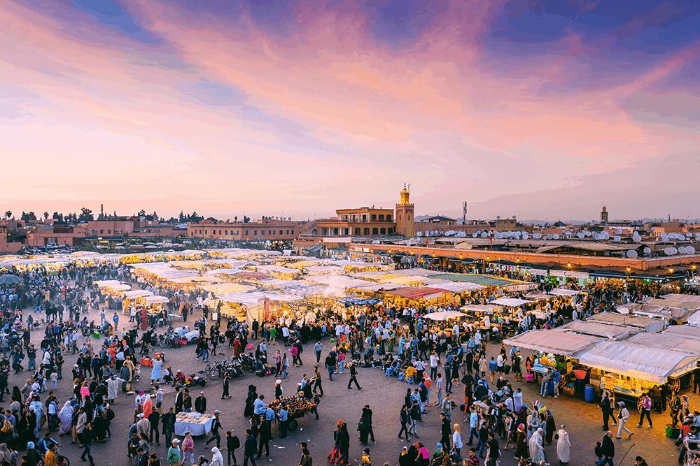 Marrakesch mit Bahia-Palast im Hintergrund