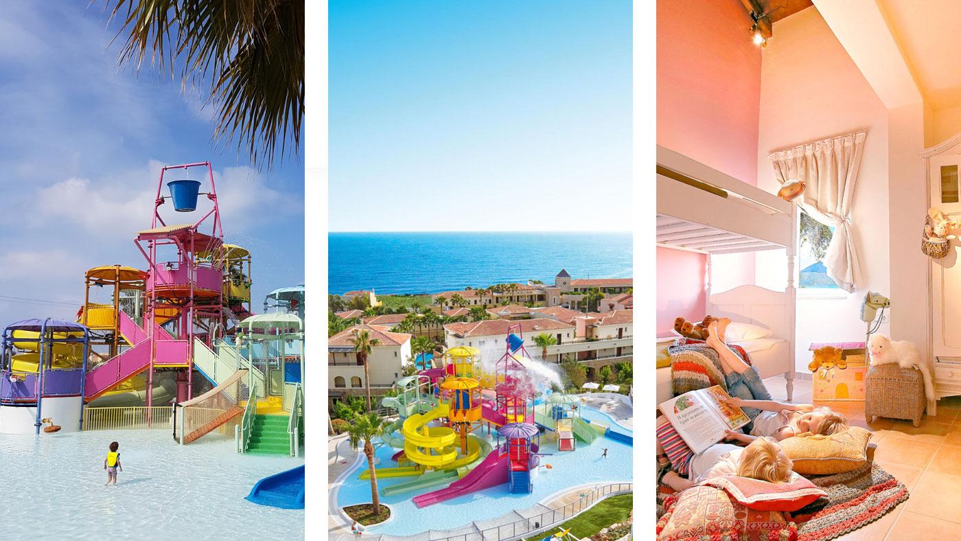 Das best FAMILY Grecotel Marine Palace ist genau die richtige Wahl für einen Familienurlaub. Es erwartet der 6000 m² große Kingdom of Poseidon Aquapark und liebevoll eingerichtete Kinderzimmer, wie hier im Familienbungalow