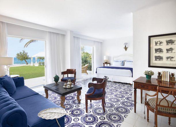 Die schicken Hotelzimmer des Boutique Resort sind alle individuell gestaltet.