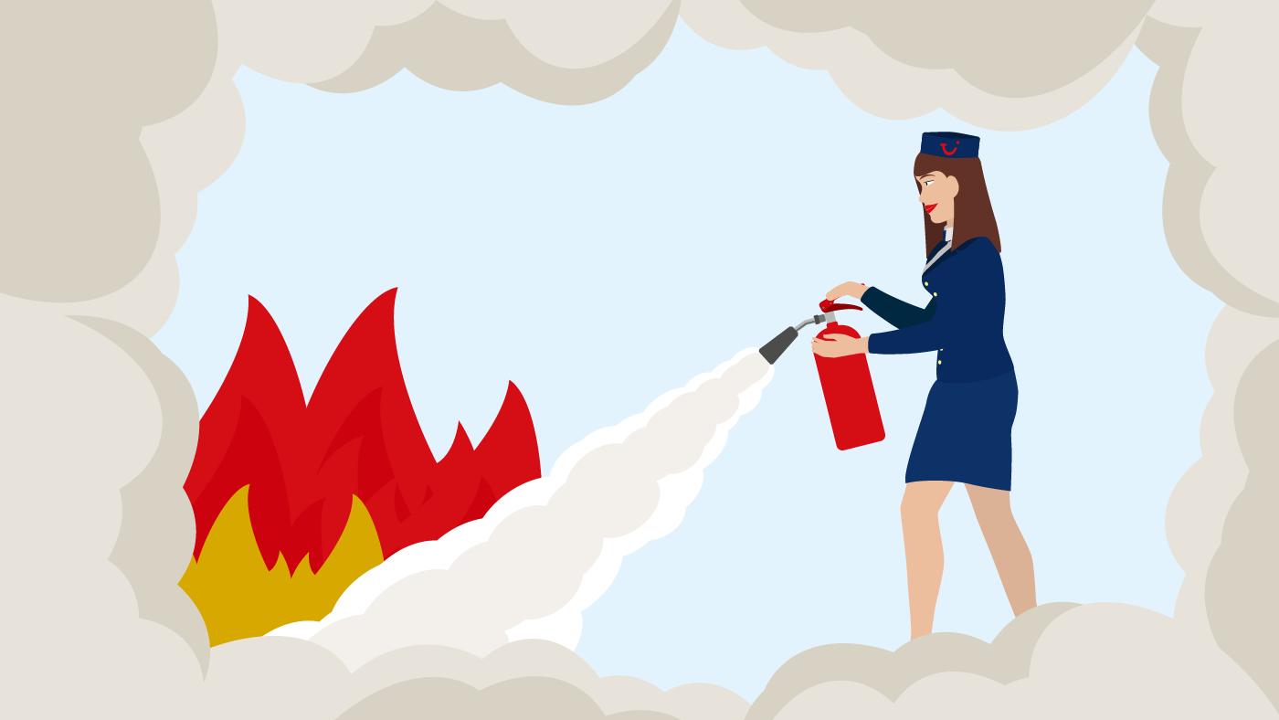 Feuer löschen - Im Notfall muss jeder Handgriff sitzen