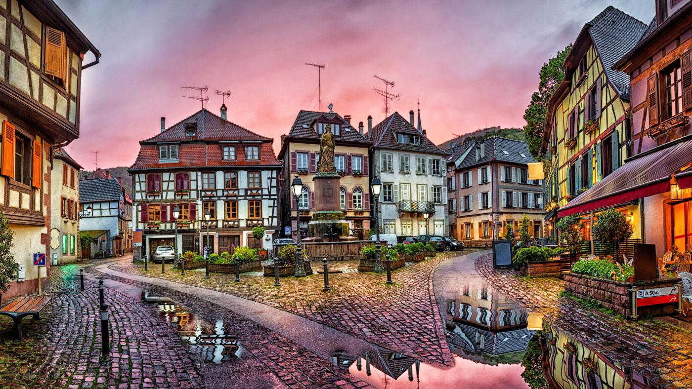 Ribeauvillé - das Weindorf im Elsass (Shutterstock/Sergey Dzyuba)