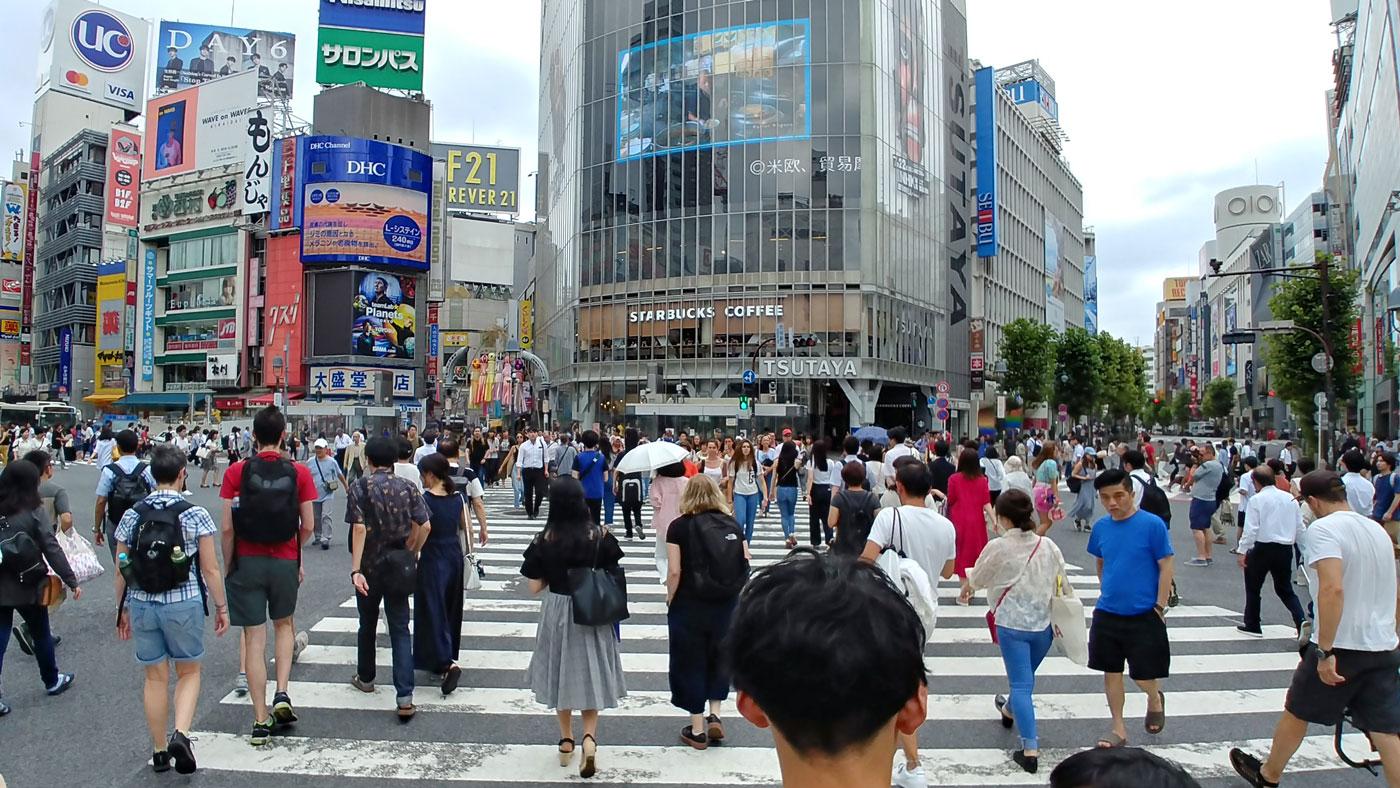 Shibuya Kreuzung in Tokio