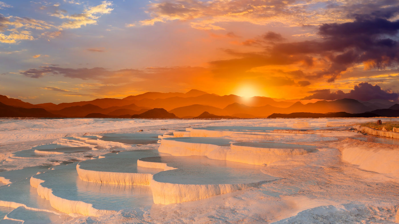 Sonnenuntergang Pamukkale