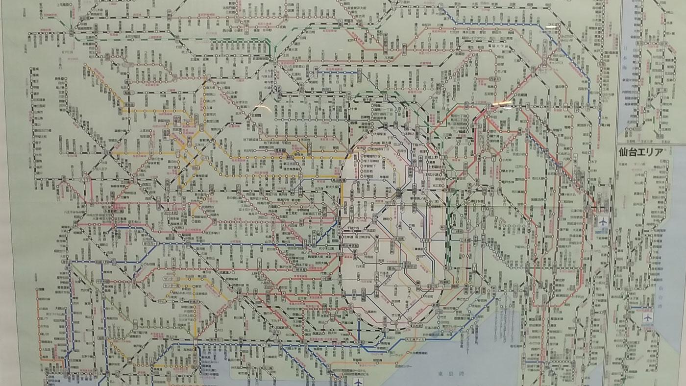 Streckennetz Japan