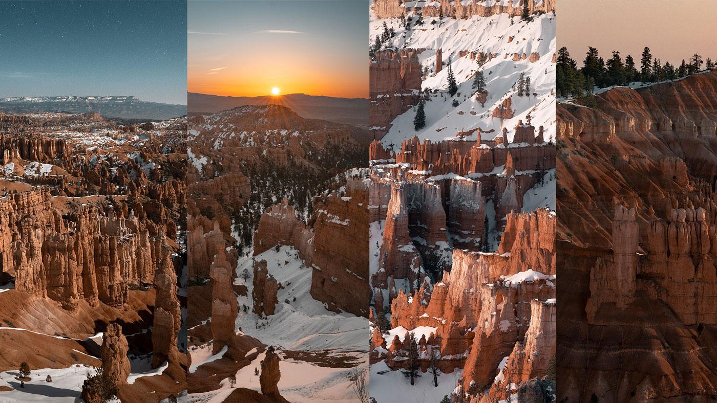 Der Bryce Nationalpark liegt sehr abgeschieden und bietet interessante, unterschiedliche Felsformationen.