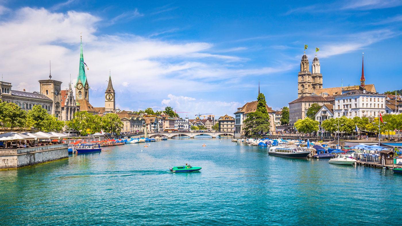 Blick auf Zürich, Nummer 2 der lebenswertesten Städte der Welt
