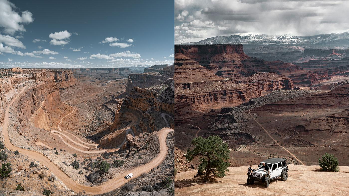 Der Canyonlands-Nationalpark ist ebenfalls ein Nationalpark in der Nähe von Moab.