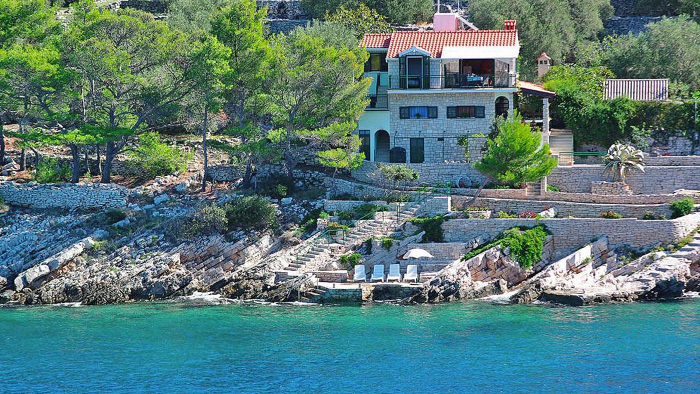Ferienhaus am Strand in Dalmatien