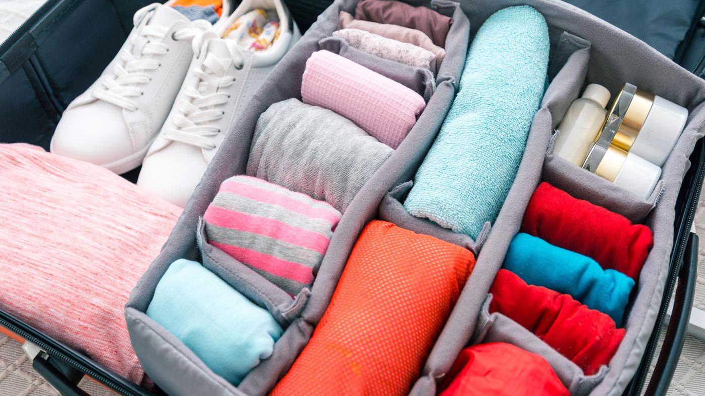 Packfächer im Koffer