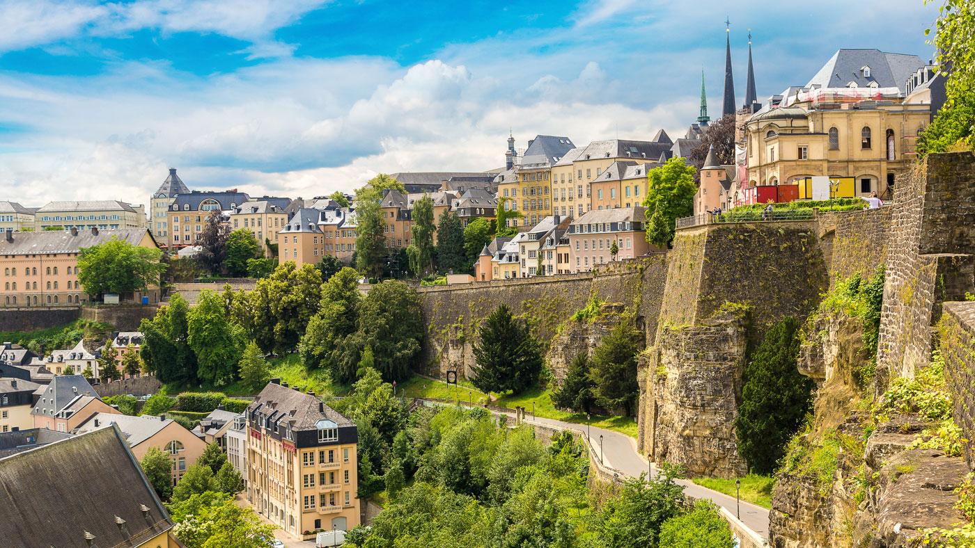 Panoramablick auf Luxemburg