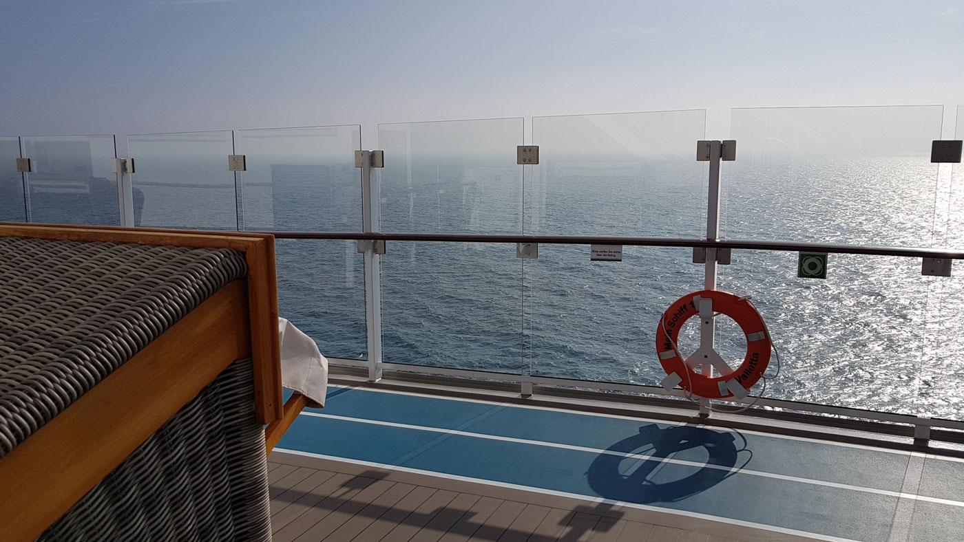 Blick aufs Meer von der Mein Schiff 1
