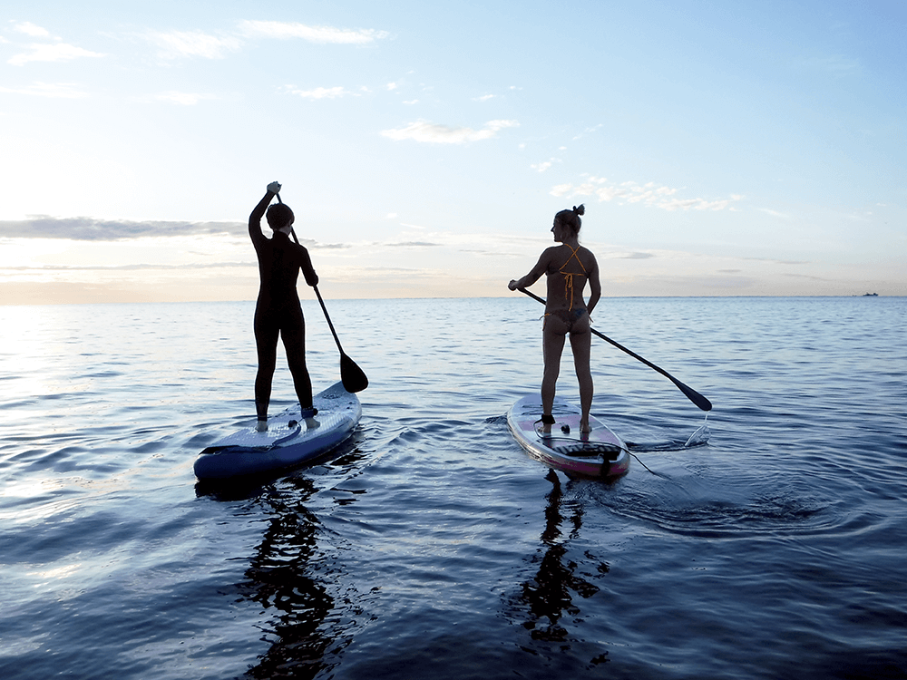 SUP ist eine tolle Kombination aus Balance, Gleichgewicht und Koordination und natürlich Paddeln.