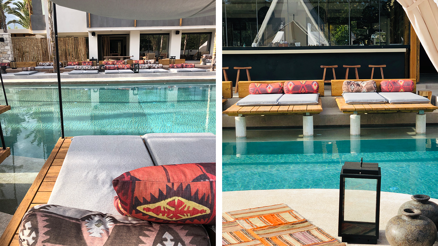 Daybeds am Pool im Syntopia by Orion