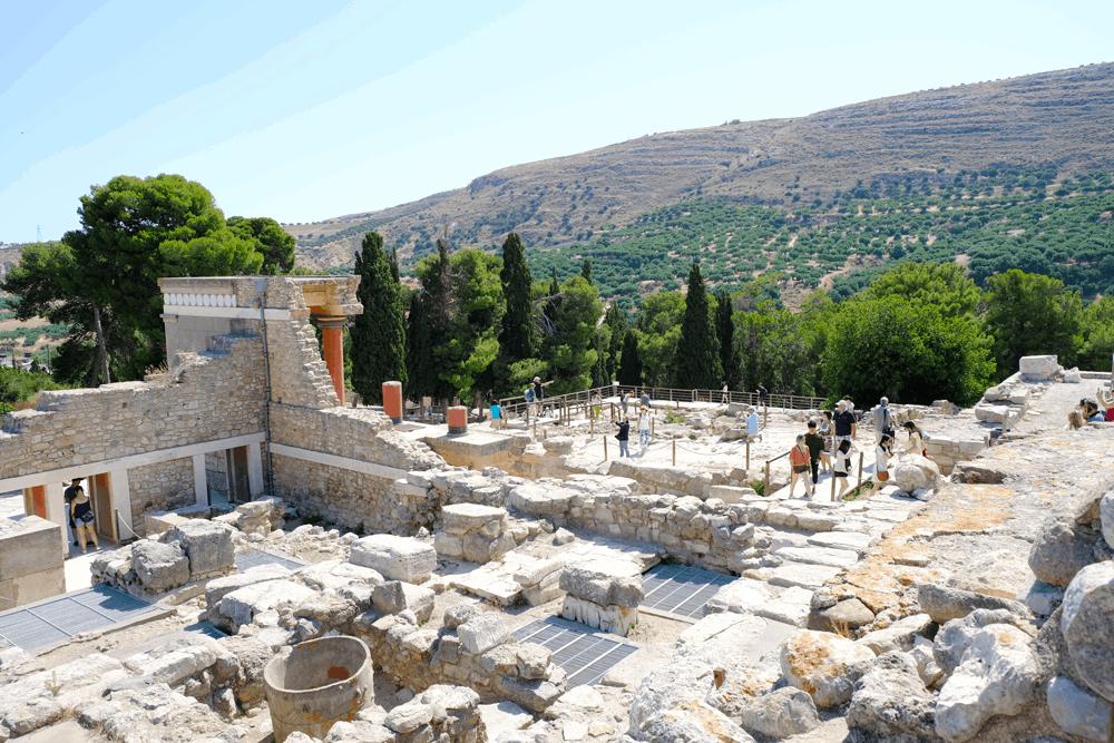 Einen phantastischen Eindruck von der reichen Kulturgeschichte Kretas bekomme ich inKnossos