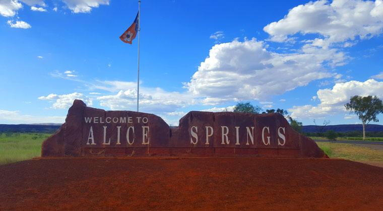 Alice Springs ist größte Stadt im australischen Outback