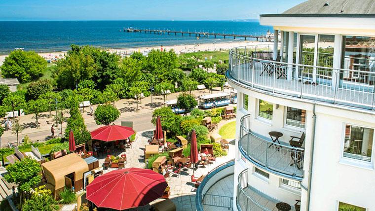 Das Ahlbeck Hotel & Spa hat die perfekte Lage direkt an der Ostsee!