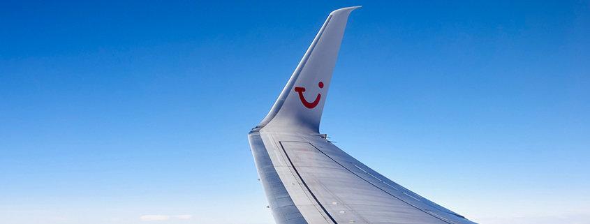 TUI fly Flugzeug mit Smile