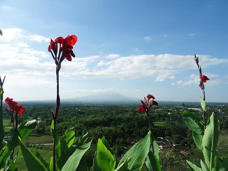 Blick auf den Mount Merapi