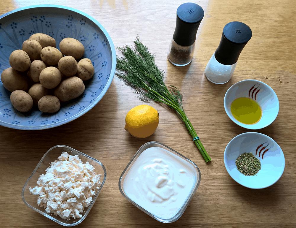 Rezept des Monats August Griechische Ofenkartoffeln - Zutaten